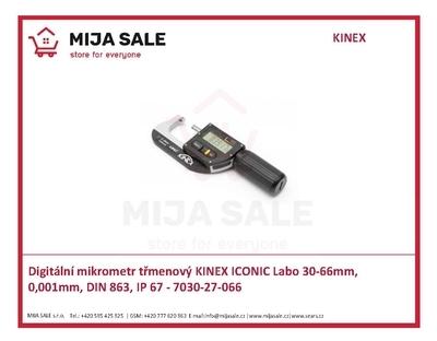 Digitální mikrometr třmenový KINEX ICONIC Labo 30-66mm, 0,001mm, DIN 863, IP 67