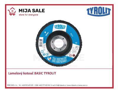 150x22,2 zr. ZA120 Basic 27A TYROLIT - Lamelový brusný kotouč BASIC