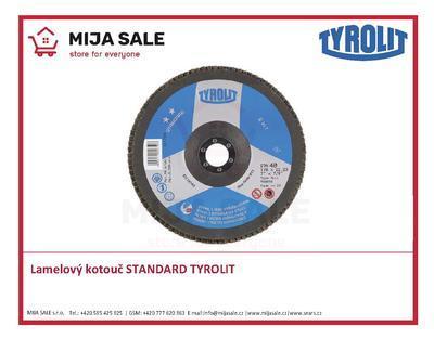 115x22,2 zr. ZA60 Standard 27A TYROLIT - Lamelový brusný kotouč STANDARD