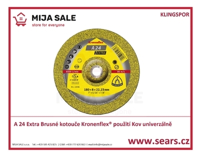 A 24 125x6x22,2 Extra Brusné kotouče Kronenflex KLINGSPOR
