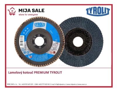 115x22,2 zr. ZA60 Premium 27A TYROLIT - Lamelový brusný kotouč PREMIUM