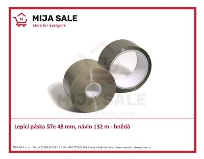 """Lepicí páska novaTAPE 1"""" šíře 48 mm, návin 132 m - hnědá"""