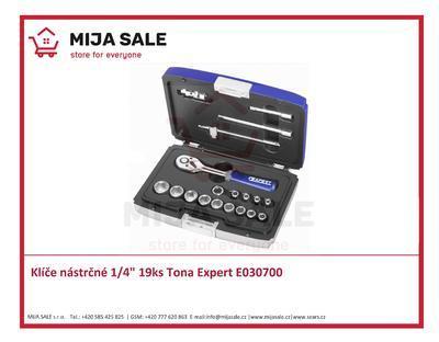 "Klíče nástrčné 1/4"" 19ks Tona Expert E030700"