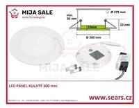 LN24 LED DENNÍ panel 24W kulatý 300mm - LED panel 24Wdo podhledu, 230V - 1/2