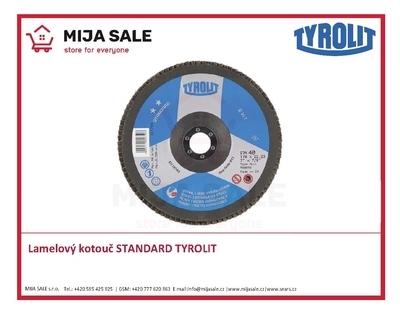 150x22,2 zr. ZA120 Standard 27A TYROLIT - Lamelový brusný kotouč STANDARD