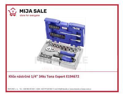 "Klíče nástrčné 1/4"" 34ks Tona Expert E194672"