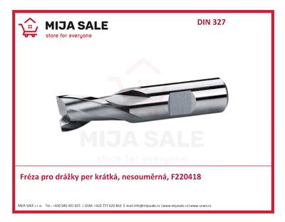 Fréza pro drážky per, krátká, dvouzubá, nesouměrná DIN 327 5x8 HSS Co8 - 1