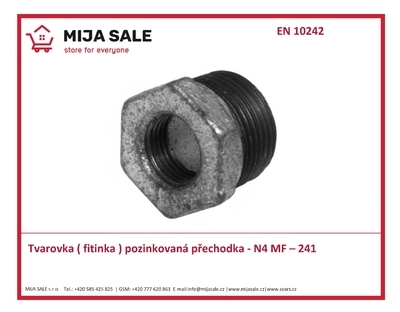 "MF – 241 / N4 - 1/2""x3/8"" - Tvarovka ( fitinka ) přechodka ( redukce )"