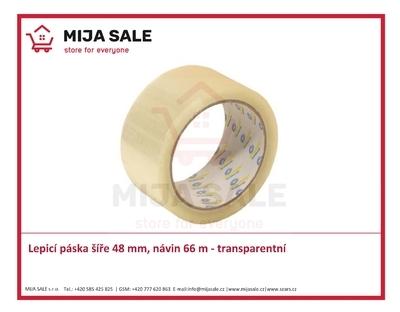 Lepicí páska ( isolepa ) novaTAPE šíře 48 mm, návin 66 m - transparentní