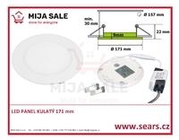LN12 LED DENNÍ panel 12W kulatý 171mm - LED panel 12W do podhledu, 230V - 1/2