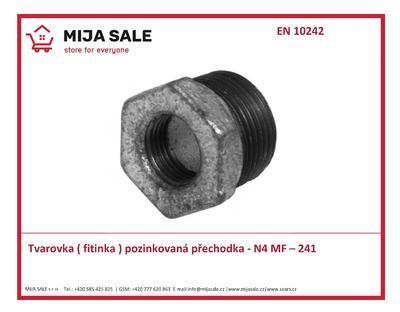 "MF – 241 / N4 - 3/8""x1/4"" - Tvarovka ( fitinka ) přechodka ( redukce )"