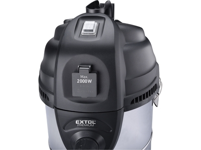 EXTOL - vysavač dílenský, multifunkční se zásuvkou a funkcí čištění filtru, 30l, 6m kabel - 4