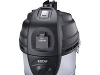 EXTOL - vysavač dílenský, multifunkční se zásuvkou a funkcí čištění filtru, 30l, 6m kabel - 4/7