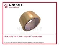 Lepicí páska ( isolepa ) šíře 48 mm,  návin 60 m - transparentní