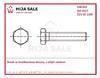 DIN 933 8.8 M16x 95 šrouby se šestihrannou hlavou celý závit bez povrchové úpravy