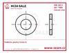 DIN 125 A - P  6,4 - 100HV ( 4.6 )- Podložka plochá, forma A